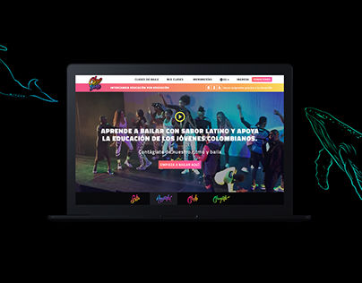 Chocó to Dance - Website design