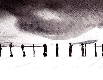 """illustration """"black lands"""""""