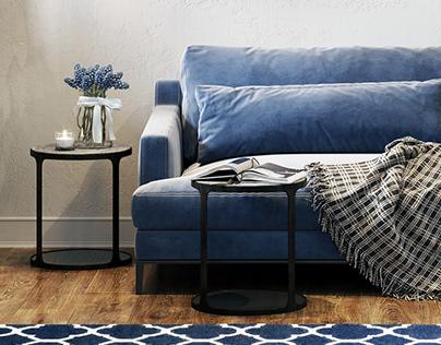 Inspiration Living room Blue