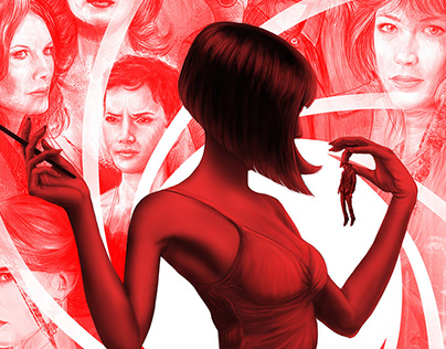 James Bond girls illustration