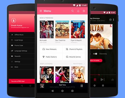 Android Music App Design