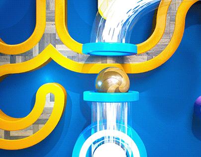 Unreal Engine GEOMETRIC Logo Animation #EpicPartner
