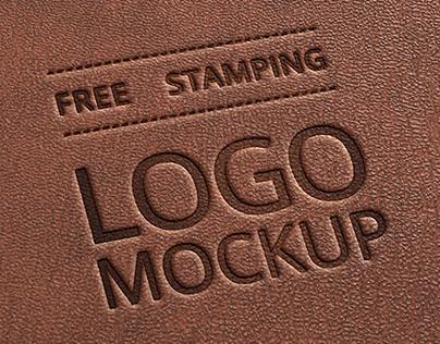 Free Leather Stamping Logo Mockup V1