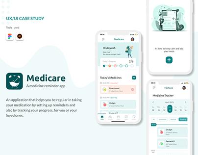 Medicare - A medicine reminder App ( UI/UX Case Study)