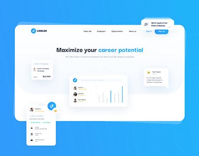 Talent recruitment platform | UX/UI Design