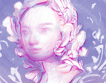 Dreaming in Flowers: Portrait Drawings