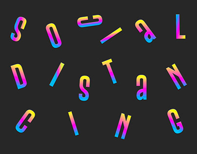 Social Distancing Typography