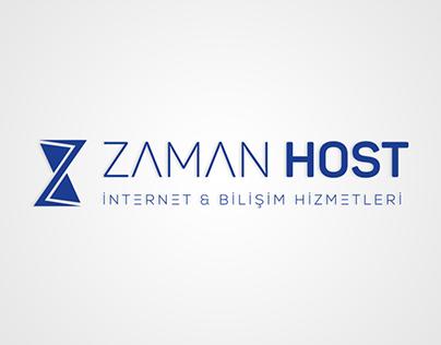 ZamanHost Logo Design