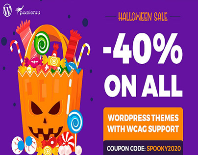 Halloween sale. Hocus Pocus - WordPress themes 40% OFF