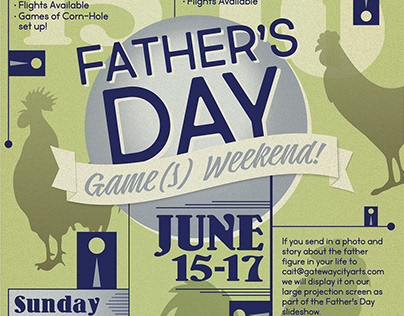 Father's Day Games Weekend poster design
