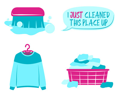Cleaning Animated Icon Set