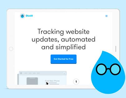 Distill - Website Design for SAAS