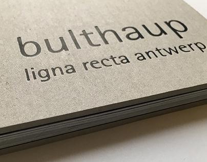 Brochure 'bulthaup ligna recta antwerp'