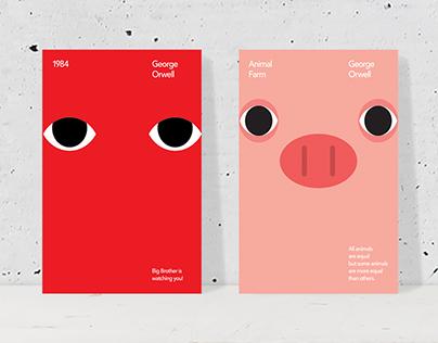 George Orwell's 1984 & Animal Farm, Free Poster
