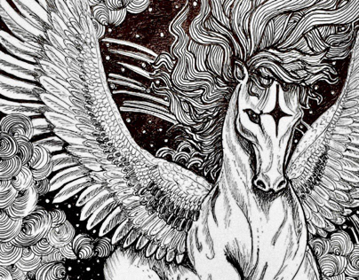 Pegasus - Illustration, Motion