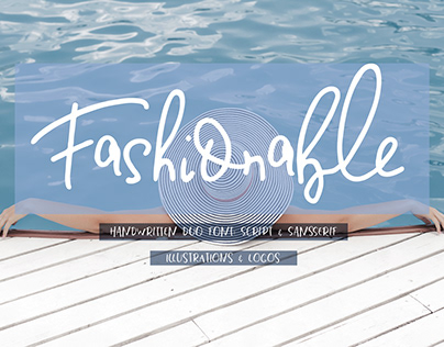 Fashionable Duo Font & Illustrations