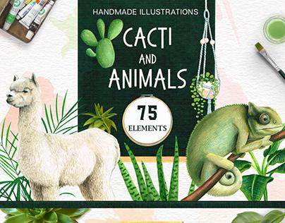 Cacti and Animals - Design Kit