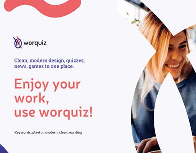Worquiz branding, UI/UX design
