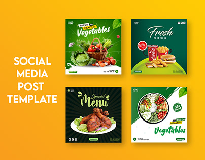 Social Media Post Template for Food Promotion
