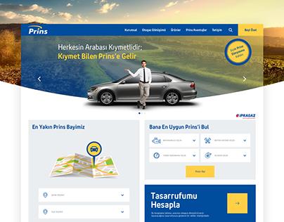 Prins Otogaz Web Tasarımı