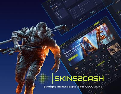 Marketplace for CS:GO SKINS - Website design