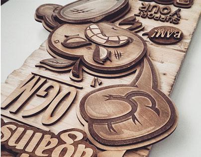 Apple Wood board