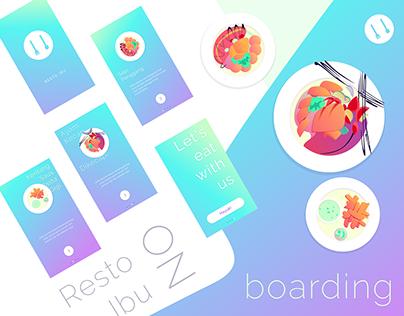 Resto Ibu iOS App   Onboarding With Illustrations