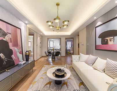 SHANGHAI ZHONGHE MODEL HOUSE DESIGN A1 Apartment layout
