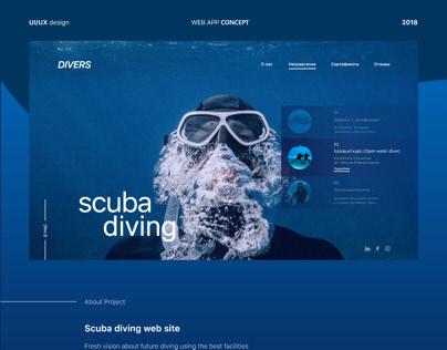 Scuba Diving website redesign