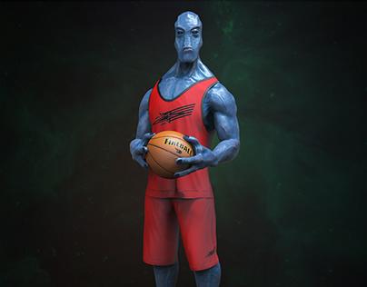 Alien Basketball Player