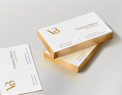 Business card + logo - Designer Vladimir Biscan