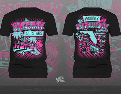 Stingray All Stars Cheerleading Shirt
