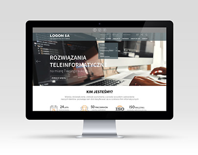 "Website layout for IT company ""LOGON"""