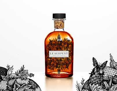 Le Serpent - Whisky Illustration & Branding