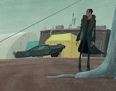 Tribute to Blade Runner - One sketch a day