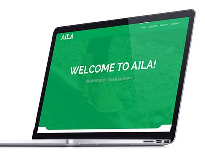 AILA-simple free PSD web template