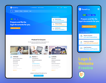 Legal Document Preparation Website & Branding Design