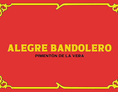 """""""ALEGRE BANDOLERO"""" Pimentón de la Vera"""