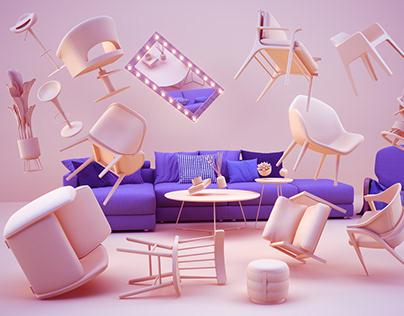 Furniture Flying