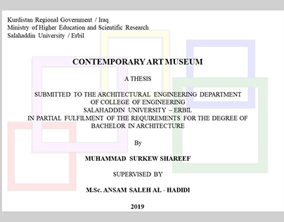 CONTEMPORARY ART MUSEUM - GRADUATION PROJECT
