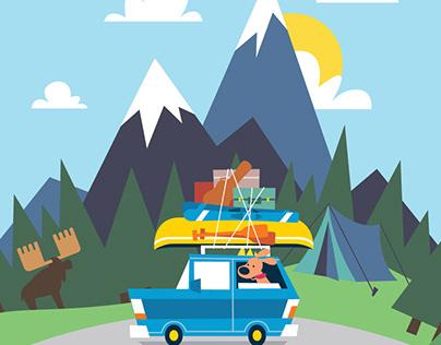 Stop Motion Road Trip