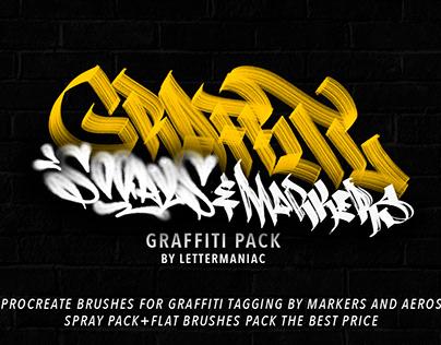 Graffiti procreate brush pack/iPad Pro Spray tags vol.4