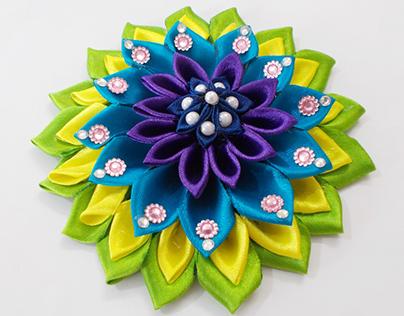 Crafts for Girls : Multicolored Kanzashi Satin Flower
