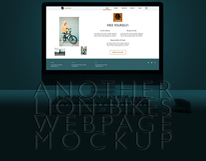 Another Lion-Bikes Webpage Mockup