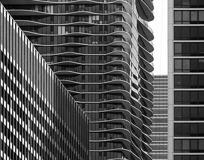 Chicago - B&W Long View