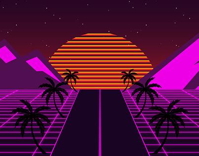 Synthwave 80's - illustration