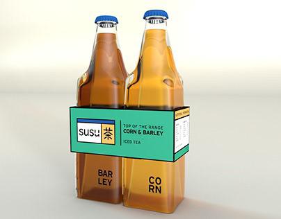 SUSU Corn and Barley tea packaging
