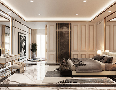 3D - Modern Classic Master Bedroom