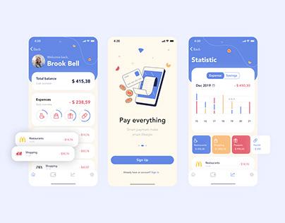 MobiCash mobile app redesign concept