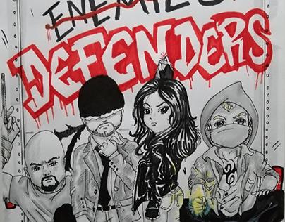 Marvel's The Defenders - Fan Art Illustration